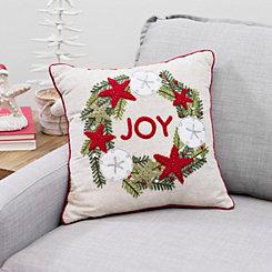 coastal joy wreath pillow - Christmas Pillows