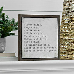Silent Night Framed Wall Plaque