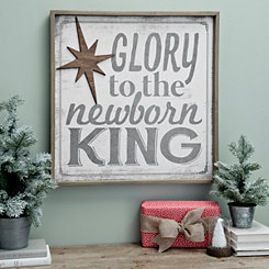 Glory To The Newborn King Framed Wall Plaque