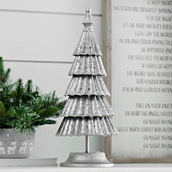 Galvanized Metal Ruffled Christmas Tree, 20 in.