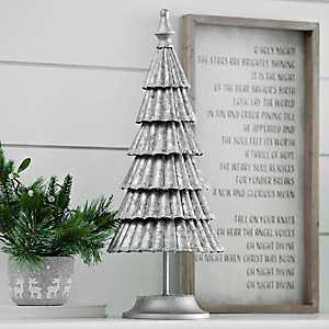 Galvanized Metal Ruffled Christmas Tree, 23 in.