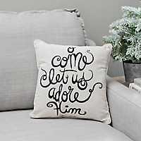 O Come Let Us Adore Him Pillow