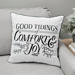 Comfort and Joy Buffalo Check Pillow