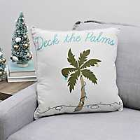 Deck The Palms Christmas Pillow