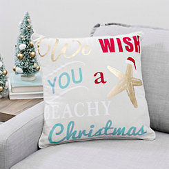 We Wish You A Beachy Christmas Pillow