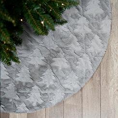 Gray Trixie Tree Faux Fur Tree Skirt
