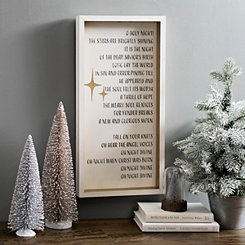 O Holy Night Framed Wall Plaque