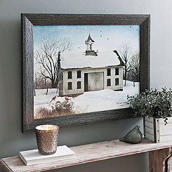 The Last Snowfall Framed Art Print