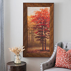 Red Forest Framed Art Print