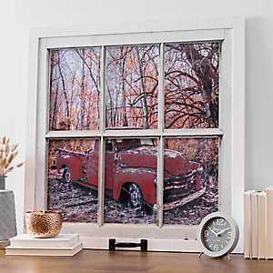 Windowpane Truck Framed Art Print