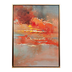 Autumn Skies Framed Canvas Art Print