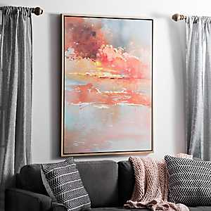 Autumn Skies Framed Canvas Art Print