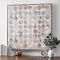 Metallic Circles Canvas Art Print