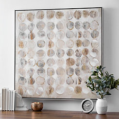 Metallic Circles Canvas Art Print