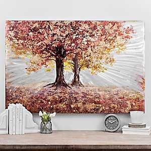 Autumn Trees Metal Art Print
