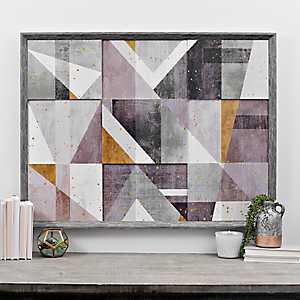 Geometric Patchwork Framed Art Print