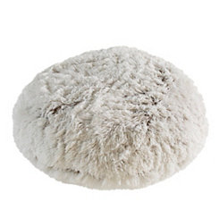 White Round Floor Pouf