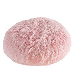 Light Pink Round Floor Pouf