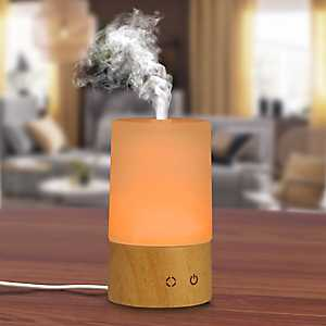 Frosted Glass Cylinder Essential Oil Diffuser