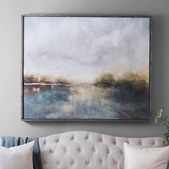 Abstract Landscape Framed Canvas Art Print