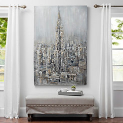 Gray Cityscape Canvas Art Print