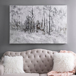 Winter Trees Canvas Art Print
