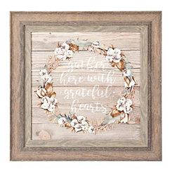Gather Wreath Framed Art Print