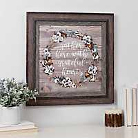 Gather Wreath Framed Art Print