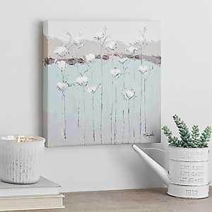 Cotton Blossoms Canvas Art Print