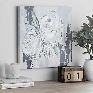White Blooms Canvas Art Print