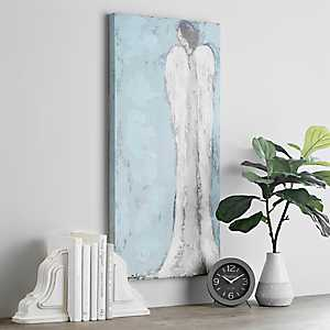 Pensive Angel Canvas Art Print