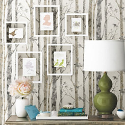 Birch Trees Peel And Stick Wall Paper Roll