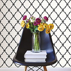 Modern Trellis Peel And Stick Wall Paper Roll