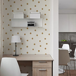 Gold Dot Peel And Stick Wall Paper Roll
