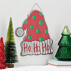 Santa Hat Christmas Wall Plaque