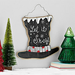 Top Hat Christmas Wall Plaque