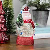 Pre-Lit Waterglobe String Light Santa Figurine
