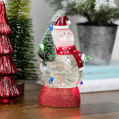 Pre-Lit Waterglobe String Light Santa Figurine