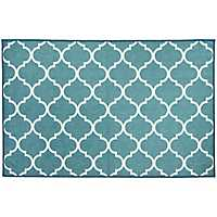 Teal Trellis 2-pc. Washable Accent Rug