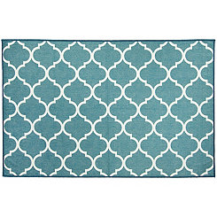 Teal Trellis 2-pc. Washable Accent Rug, 3x5
