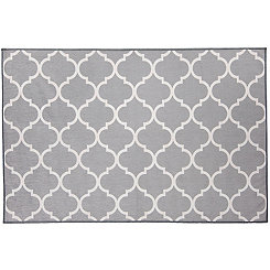 Gray Trellis 2-pc. Washable Accent Rug, 3x5