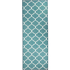 Teal Moroccan Trellis 2-pc. Washable Runner