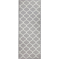 Gray Moroccan Trellis 2-pc. Washable Runner