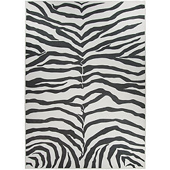 Black Zebra Safari 2-pc. Washable Area Rug, 5x7