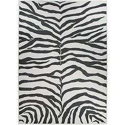 Black Zebra Safari 2-pc. Washable Area Rug, 5x7
