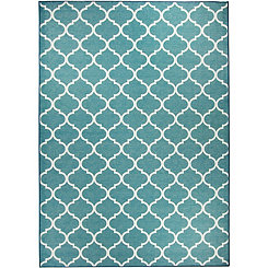 Teal Moroccan Trellis 2-pc. Washable Area Rug, 5x7