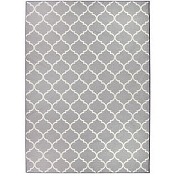 Gray Moroccan Trellis 2-pc. Washable Area Rug, 5x7