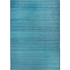 Textured Ocean Blue 2-pc. Washable Area Rug, 5x7