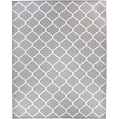 Gray Trellis 2-pc. Washable Area Rug, 8x10