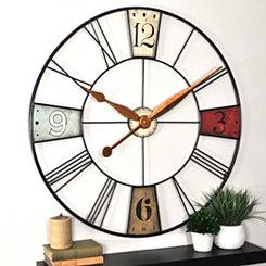 Vibrant Plaques Wall Clock
